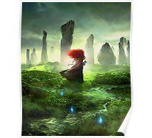 Merida Walking - The Brave Disney Poster
