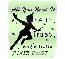 Peter Pan Quote - Disney Poster