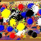 ( THREE  YEIIOW BALLS  ) ERIC WHITEMAN ART  by eric  whiteman