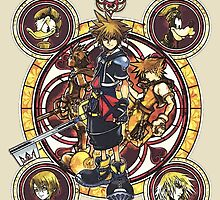 Sora and all Characters - Kingdom Hearts by peetamark