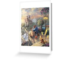 The Beauty and The Beast Disney - All Characters Greeting Card