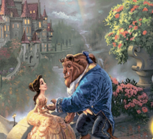 The Beauty and The Beast Disney - All Characters Sticker