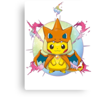 Pikachu Mega Charizard Y Costume Canvas Print