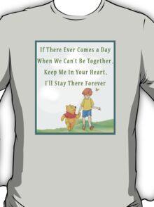 Winnie the Pooh Disney - Firendship Loveship Quote T-Shirt