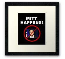 Mitt Happens Framed Print