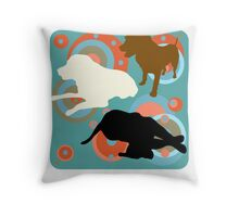 LABRADOR RETRIEVER BLACK GOLD CHOCOLATE Throw Pillow