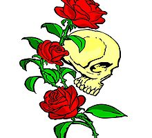 Skull & Roses - Colour by GeorgeOC