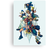 Kingdom Hearts - Sora and All the Others Lovely Portrait Canvas Print