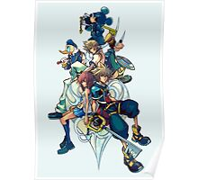 Kingdom Hearts - Sora and All the Others Lovely Portrait Poster