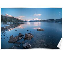 Maligne Lake Sunset Poster