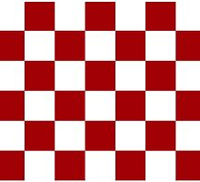 Red And White Checkered Print by KCavender