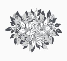 gray roses by VioDeSign