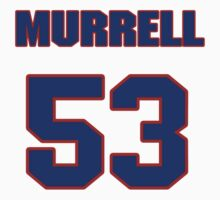 National football player Marques Murrell jersey 53 by imsport