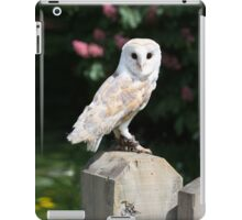 Barn owl on a fence post iPad Case/Skin