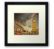 London life Framed Print