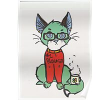 Blogger cat  Poster
