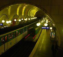 Sur le Metro by Peter Reid