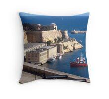 Malta, Grand Harbour View 1 Throw Pillow
