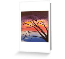 Ghost tree at dusk Greeting Card