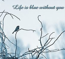 Life is blue without you . . . by Bonnie T.  Barry