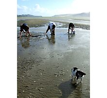 3 Men and a dog, New Zealand Photographic Print