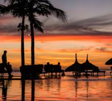Mauritian Sunset Sticker