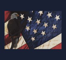 American Eagle - Flag by Ryan Houston