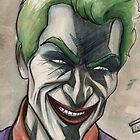 Joker in Ink and Watercolor by jarofcomics