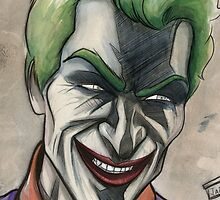 Joker in Ink and Watercolor by jarofcomics