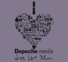 Depeche Mode : I Love DM Just Like Mom - Black Kids Clothes