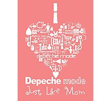 Depeche Mode : I Love DM Just Like Mom - White Photographic Print