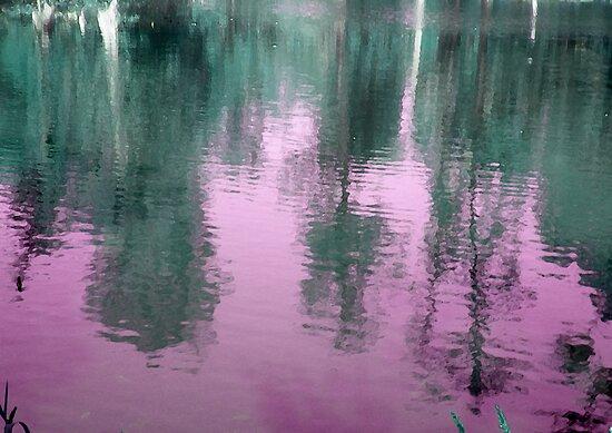 Reflection in Purple by Rebekah  McLeod