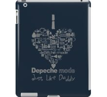 Depeche Mode : I Love DM Just Like Daddy - Grey iPad Case/Skin