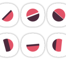 Axises - Random Number Generator Math Art Sticker