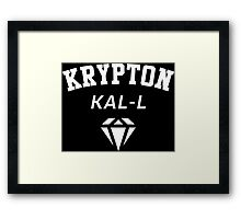 KAL-L KRYPTON Framed Print