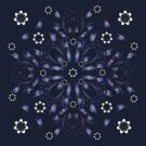 blue vintage pattern by VioDeSign