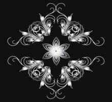 grey vintage pattern by VioDeSign
