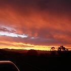 Sunset over Tuggeranong, Canberra, Australia.  by WhitCanberra