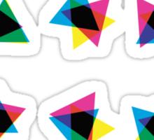 Atmospheric Noise CMYK - Random Number Generator Math Art Sticker