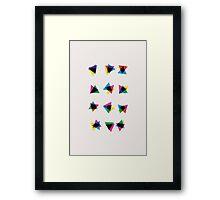 Atmospheric Noise CMYK - Random Number Generator Math Art Framed Print