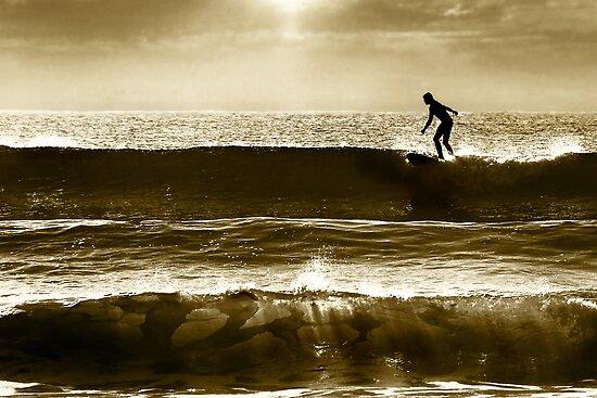Charlie surfing... by Nicole Goggins