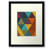 Triangles Colors City 3 Framed Print