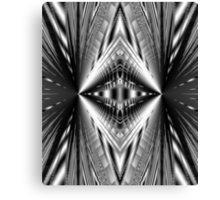 Silvery shining Diamond abstract Canvas Print