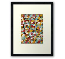 Triangles Circus Oil Framed Print