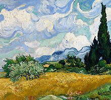 Vincent van Gogh - Wheat Field with Cypresses by forthwith