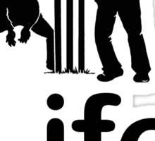 Cricket v Life - Black Graphic Sticker