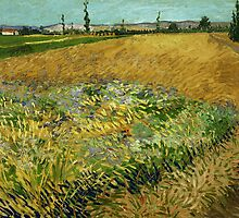Vincent van Gogh - Wheatfield - 1888 by forthwith