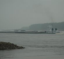 Mississippi River working by Jim Caldwell