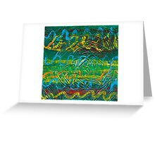 Color Dance - Green Abstract Greeting Card