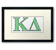 Kappa Delta Lilly Letters Framed Print